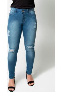 Calça Jeans Feminina Skinny Jeans Azul