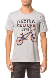 Camiseta Ckj Mc Estampa Racing Culture - Mescla - Ggg