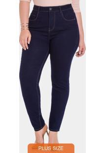 Calça Jeans Com Elastano Jeans Escuro