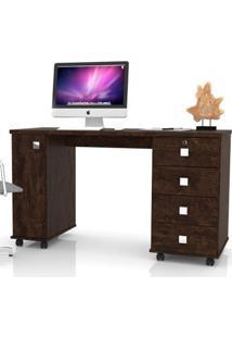 Mesa Computador Office Smart - Noce - Lukaliam Móveis