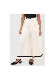 Calça Polo Ralph Lauren Pantalona Amarração Off-White