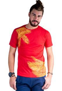 Camiseta Mister Fish Estampado Palmeiras Vermelho