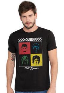 Camiseta Masculina Queen Hot Space - Masculino-Preto