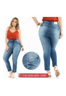 Calça Jeans Mom Midi Plus Size Feminina Biotipo