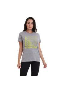 Camiseta Jay Jay Básica Inspire Neon Cinza Mescla