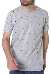 Camiseta Manga Curta Masculina Vels Cinza