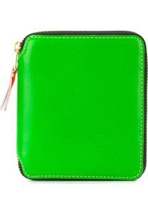 Comme Des Garçons Wallet Carteira De Couro Pequena - Green