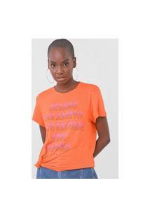 Camiseta Colcci Verão Laranja