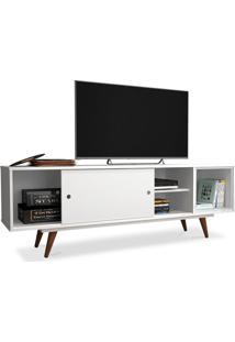 Rack Para Tv 47 Polegadas, Com Porta Deslizante E Prateleira, Branco, Vintage 50 Ii