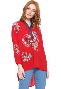 Camisa Desigual Temis Vermelha
