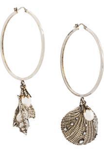 Alexander Mcqueen Shell Earrings - Metálico