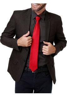 Gravata Masculina Vermelho