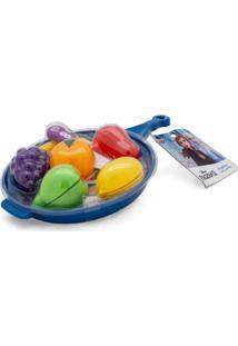 Conjunto De Atividades - Jogo De Cozinha - Frutas - Frigideira Azul - Disney - Frozen 2 - Toyng