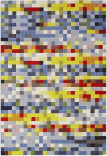 Tapete Pixel- Vermelho & Amarelo Claro- 200X150Cm