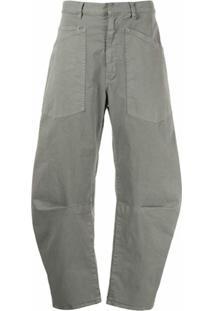 Nili Lotan Calça Cargo Pantalona - Cinza