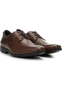 Sapato Social Democrata Duo Soft Masculino - Masculino-Marrom Escuro