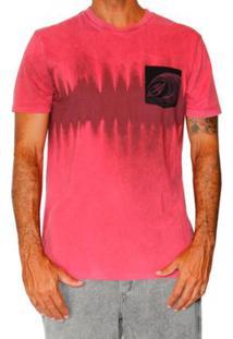 Camiseta Mormaii Tye Die Stripe Masculino - Masculino-Rosa