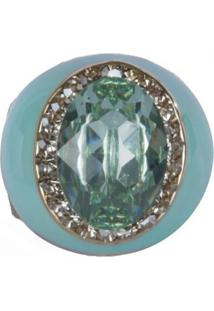 Anel Armazem Rr Bijoux Resinado Pedra Verde - Verde - Feminino - Dafiti