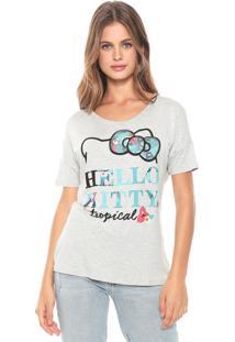 Blusa Cativa Hello Kitty Paetês Cinza