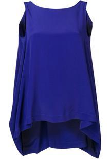 Pierantoniogaspari Blusa Assimétrica - Azul
