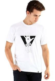 Camiseta Ouroboros Manga Curta Mente Aberta - Masculino-Branco