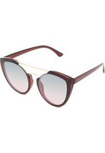 f8dd33b68 R$ 99,90. Kanui Óculos De Sol Thelure Transparente Marrom