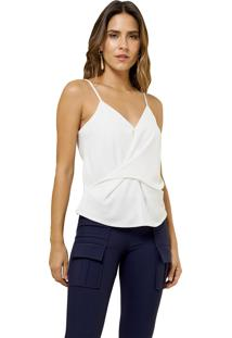 Regata Mx Fashion De Chiffon Com Transpasse Karine Off White