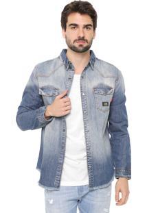 Jaqueta Jeans Reserva Estonada Azul