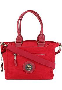 Bolsa Snoopy Tote Bag Grande Feminina - Feminino-Vermelho
