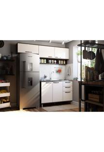Cozinha Compacta 3 Peças Sara Siena Móveis Castanho/Pérola Off