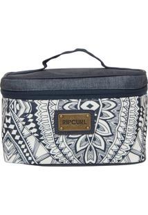 Necessaire Rip Curl Compact Case Mayan Branca/Azul