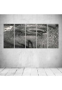 Quadro Decorativo - Elephant232 - Composto De 5 Quadros