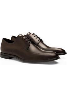 Sapato Social Brogan Derby Rockefeller Masculino - Masculino-Marrom Escuro