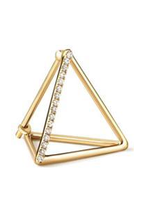 Shihara Brinco Único Com Diamante - Metálico