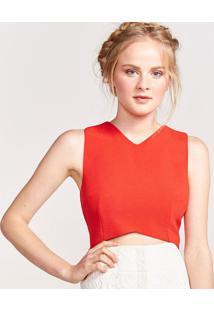 Blusa Cropped Com ZãPer - Vermelhapop Up