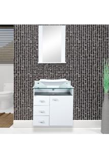 Conjunto De Banheiro Classic Branco E Preto