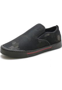 Sapatênis Slip On Over Boots Camuflado Americano Verde