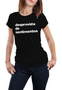 Camiseta Hunter Desprovida De Sentimentos Preta
