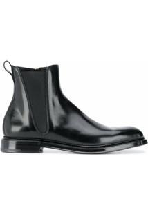 Dolce & Gabbana Ankle Boot Com Zíper Lateral - Preto