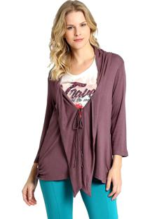 Cardigan Energia Fashion Roxo