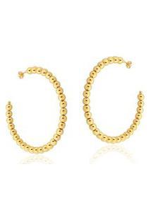 Argola Le Diamond Com Bolinhas Dourado