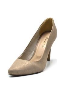 Sapato Feminino Scarpin Salto Alto Fino Em Areia Cintilante 0 Comentários