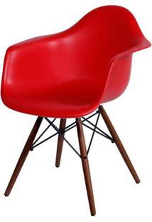 Cadeira Eames Com Braco Base Escura Vermelha Fosco - 44886 - Sun House