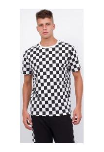 Camiseta Com Estampa Quadriculada