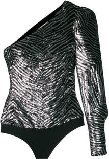 Alexandre Vauthier Body Com Textura - Prateado