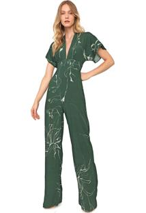 Macacão Forum Pantalona Abstrata Verde