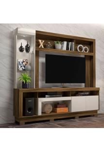 Estante Para Home Theater E Tv Até 55 Polegadas Iguatemi Canela E Off White