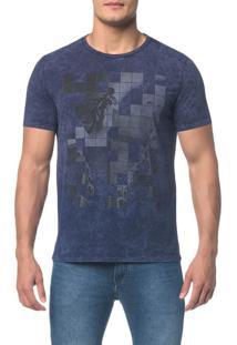 Camiseta Ckj Mc Est Bike Quadriculado - Marinho Camiseta Ckj Mc Est Bike Quadriculado - Pp