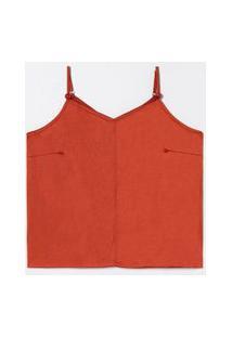 Blusa Regata Lisa Em Suede Curve & Plus Size | Ashua Curve E Plus Size | Laranja | Gg
