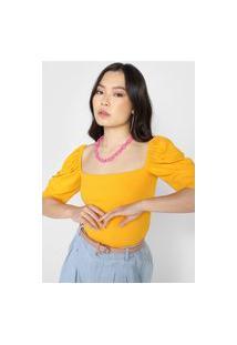 Blusa Colcci Canelada Amarela